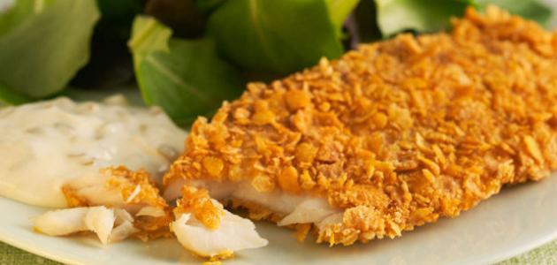 شرائح صدور الدجاج بمقرمشات الشيتوس الحارة