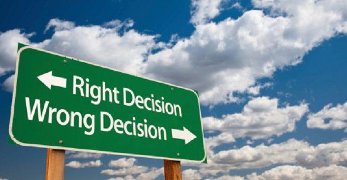 اتخاذ القرار المناسب