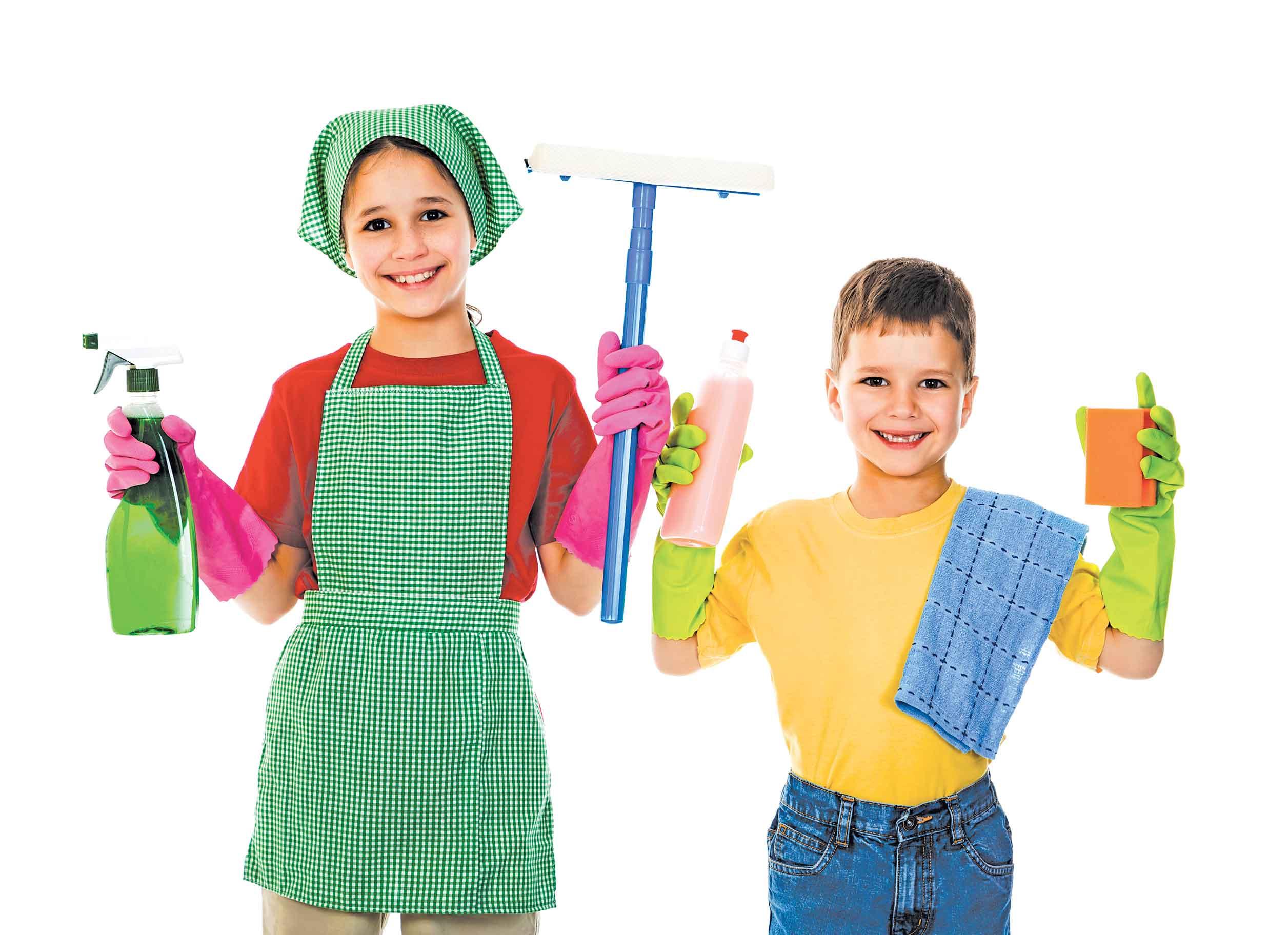 للاستفادة من الأجازة أشركي أطفالك في الأعمال المنزلية وفقًا لأعمارهم