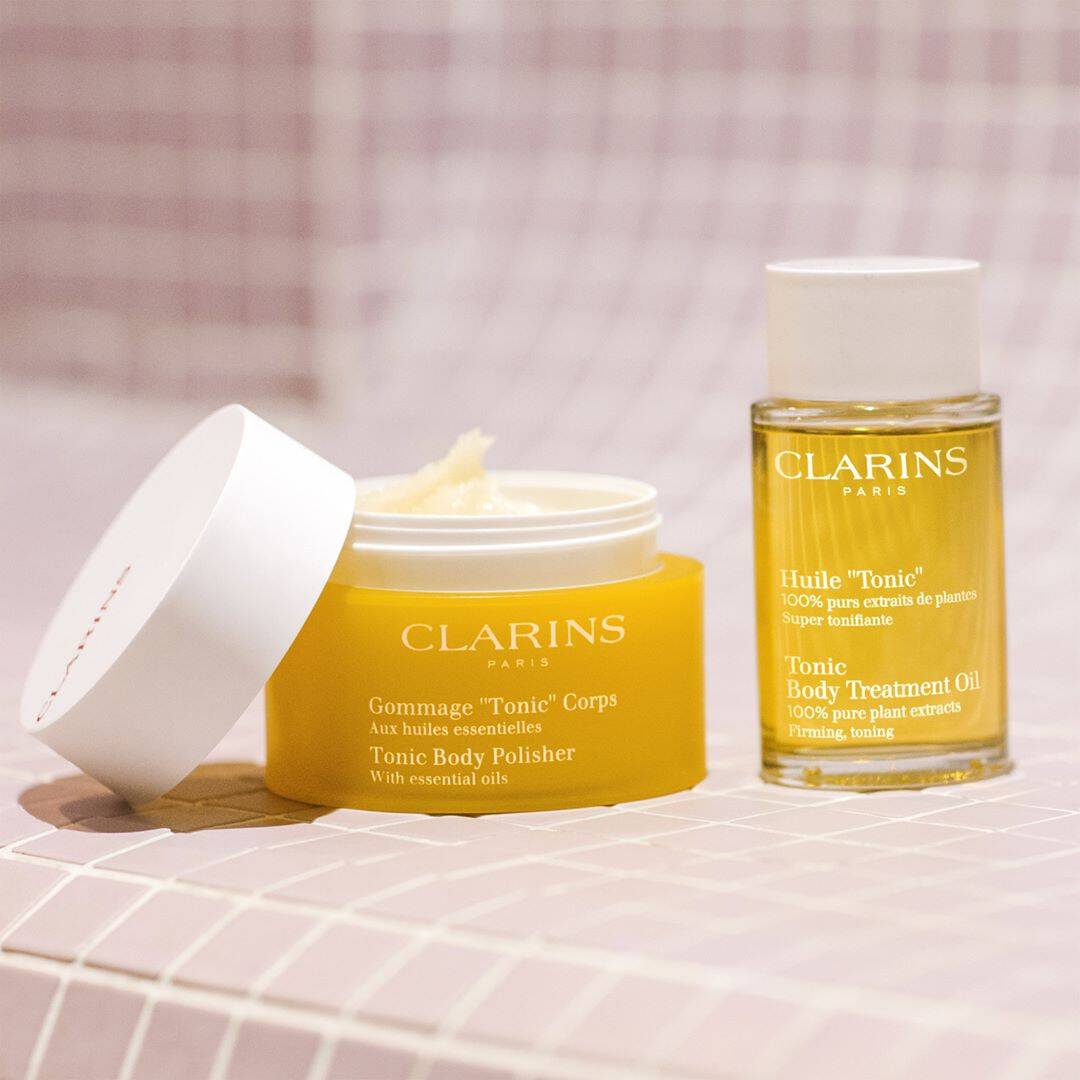 كريم clarins Tonic Body Treatment Oil