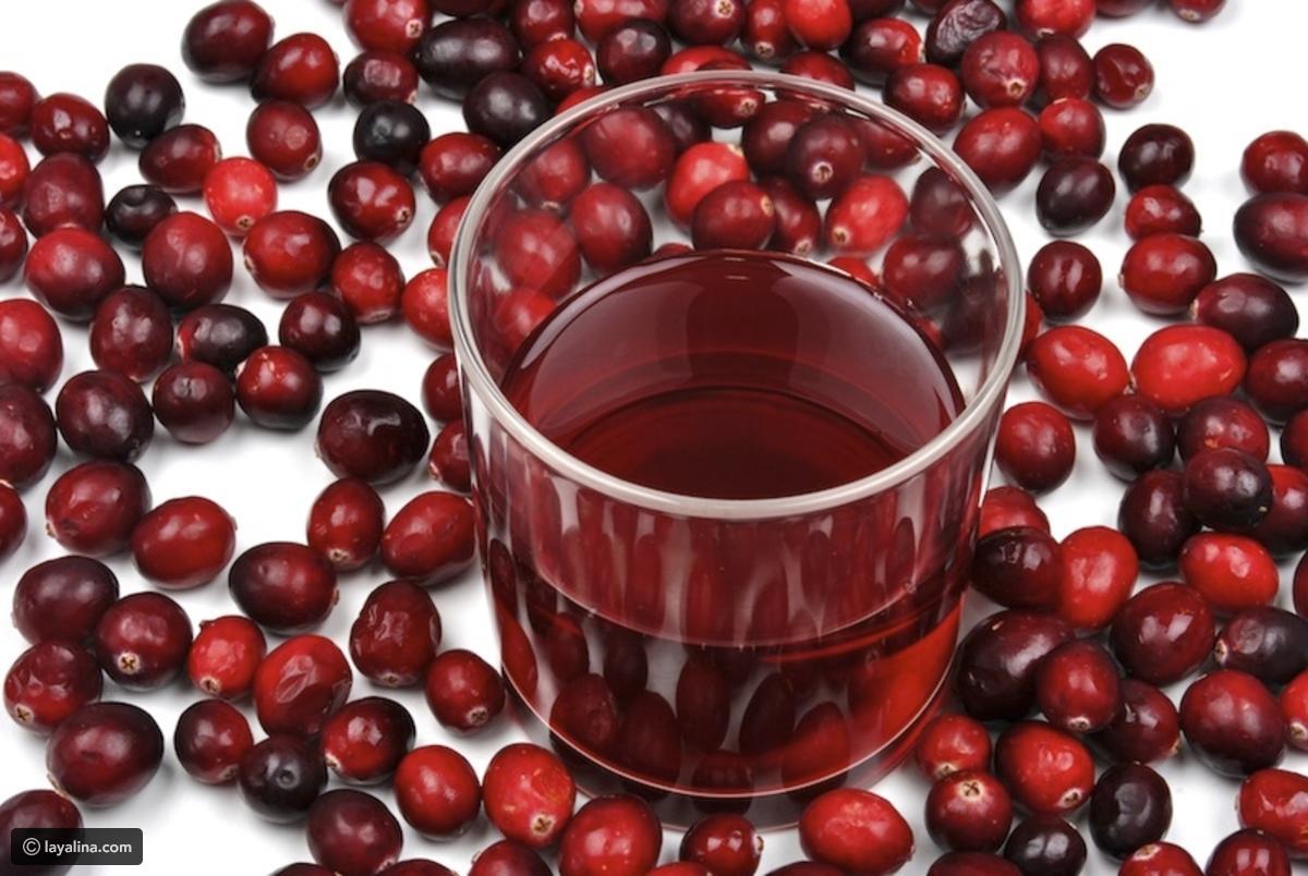عصير كرات التوت البري الأحمر