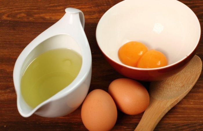 وصفة البيض وزيت الخروع