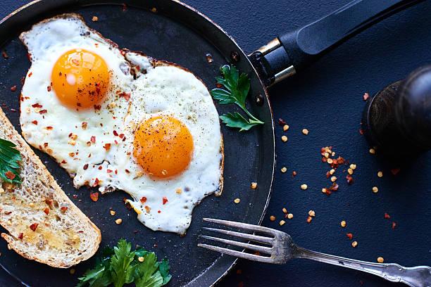 البيض المقلي للرجيم