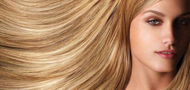 صبغات شعر طبيعية اشقر