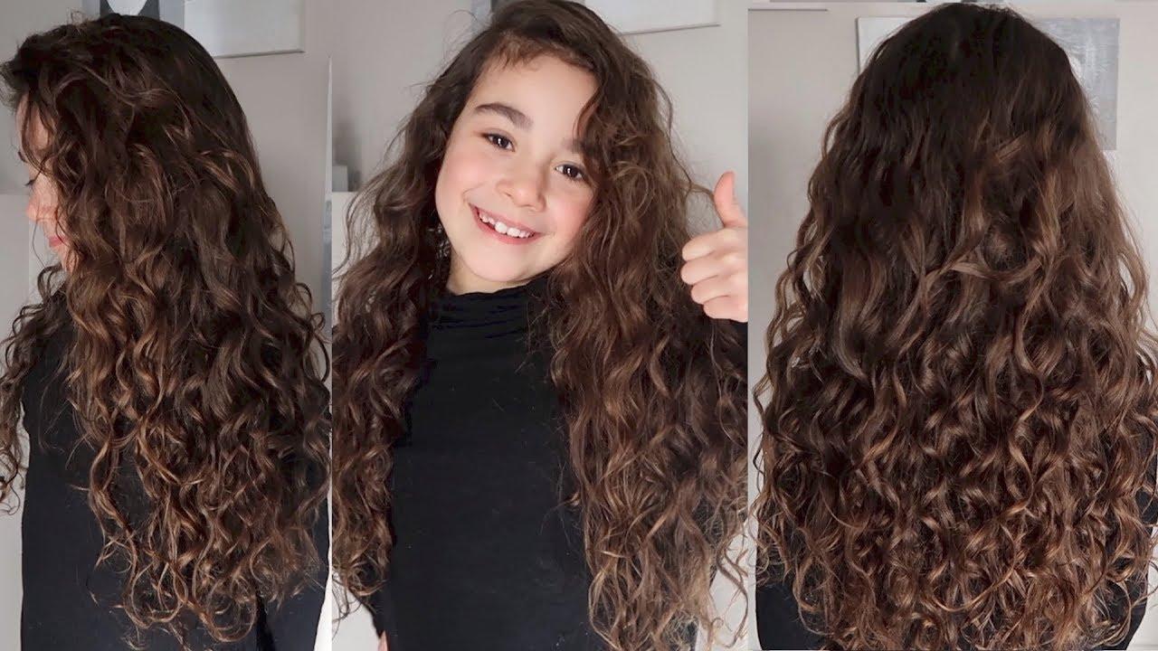 شعر طويل ملفلف