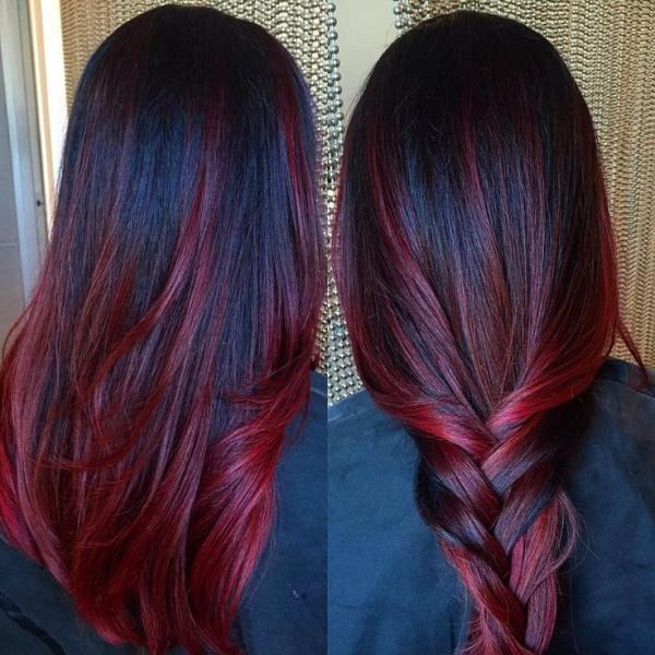 صبغة شعر احمر غامق