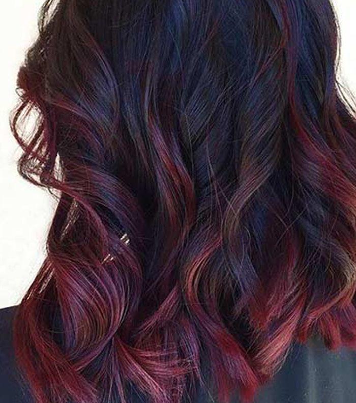صبغ شعر احمر برغندي