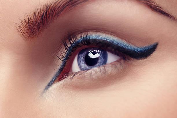 الكحل الازرق داخل العين