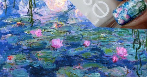 الرسم على الماء بالمانيكير