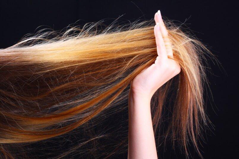 علاج تقصف الشعر بدون قص